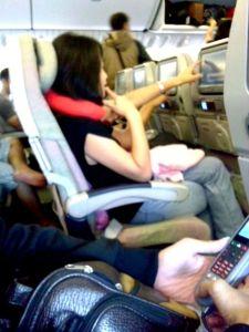 Ini di dalam pesawat pertama