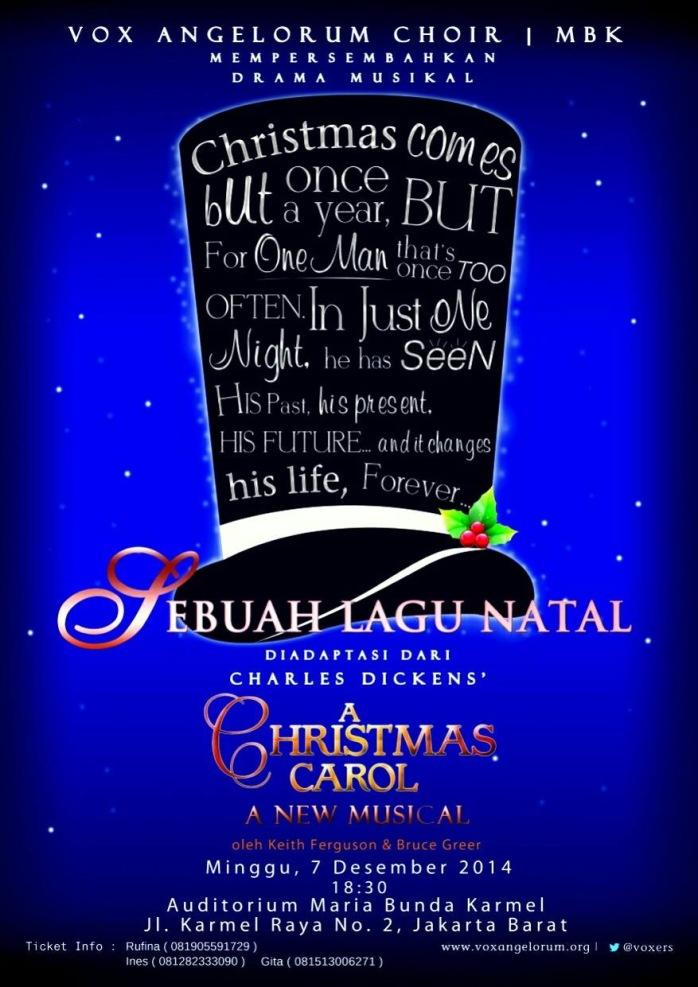 Poster Drama Musikal SEBUAH LAGU NATAL - Vox Angelorum Choir